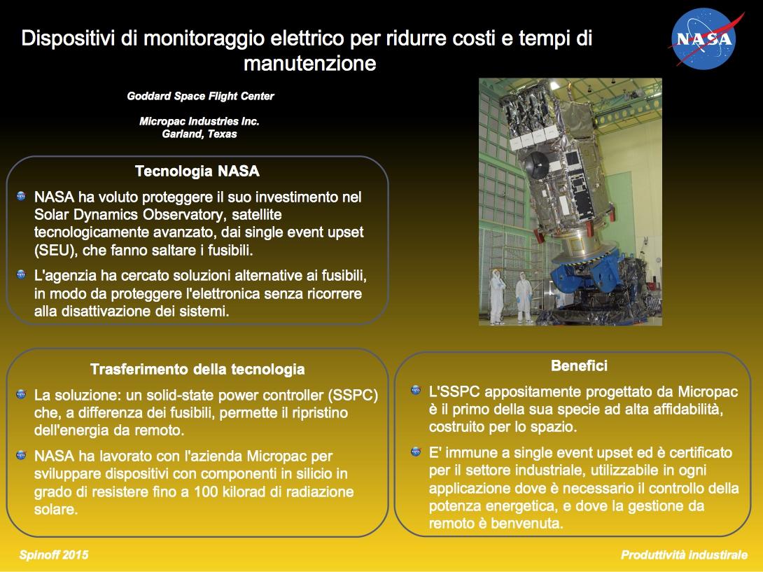 Dispositivi di controllo della potenza: dal Solar Dynamics Observatory alla Terra ©NASA / Veronica Remondini