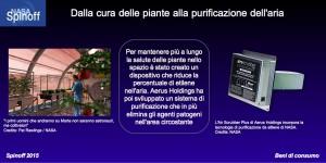Un sistema che trasforma l'etilene in aria e CO2 è risultato utile anche per eliminare gli agenti patogeni ©NASA / Veronica Remondini