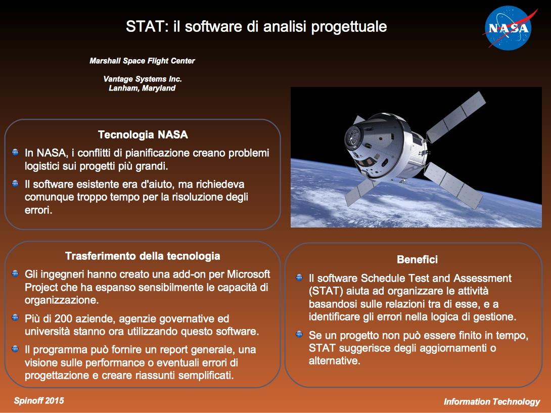 Un software aiuta la gestione delle timeline nei grandi progetti ©NASA / Veronica Remondini