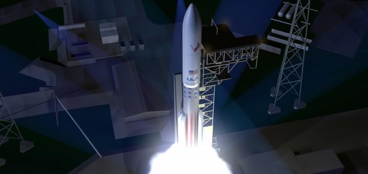 Un rendering del liftoff del nuovo vettore Vulcan di ULA (C) ULA.