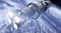 Rendering dell'EUS con la capsula Orion. Credit: Boeing
