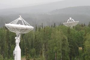 Alcune antenne dell'Alaska Satellite Facility