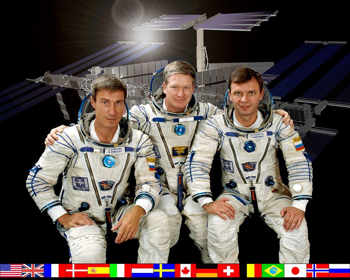 L'equipaggio dell'Expedition 1. Credit: NASA