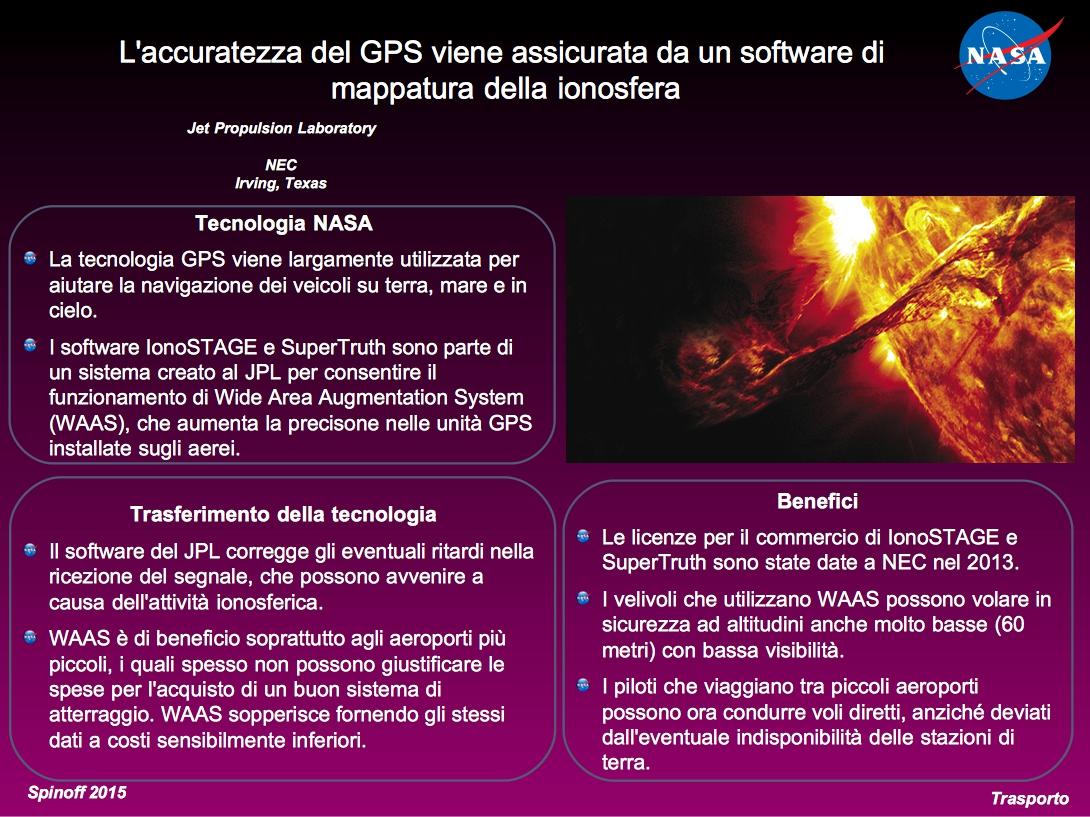 Maggior precisione nella ricezione dei segnali GPS grazie a software sviluppati al JPL © NASA / Veronica Remondini