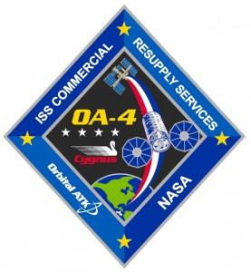 Lo stemma della missione OA-4. Credit: Collectspace.com / Orbital ATK