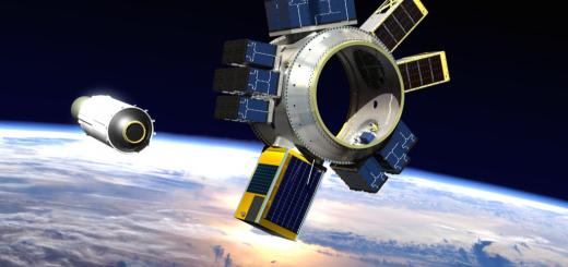 Rappresentazione artistica dello space tug multi-payload Sherpa di Spaceflight Industries Credit: Spaceflight Industries