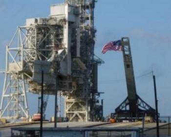 La bandiera USA al pad 39A Credits: SpaceX