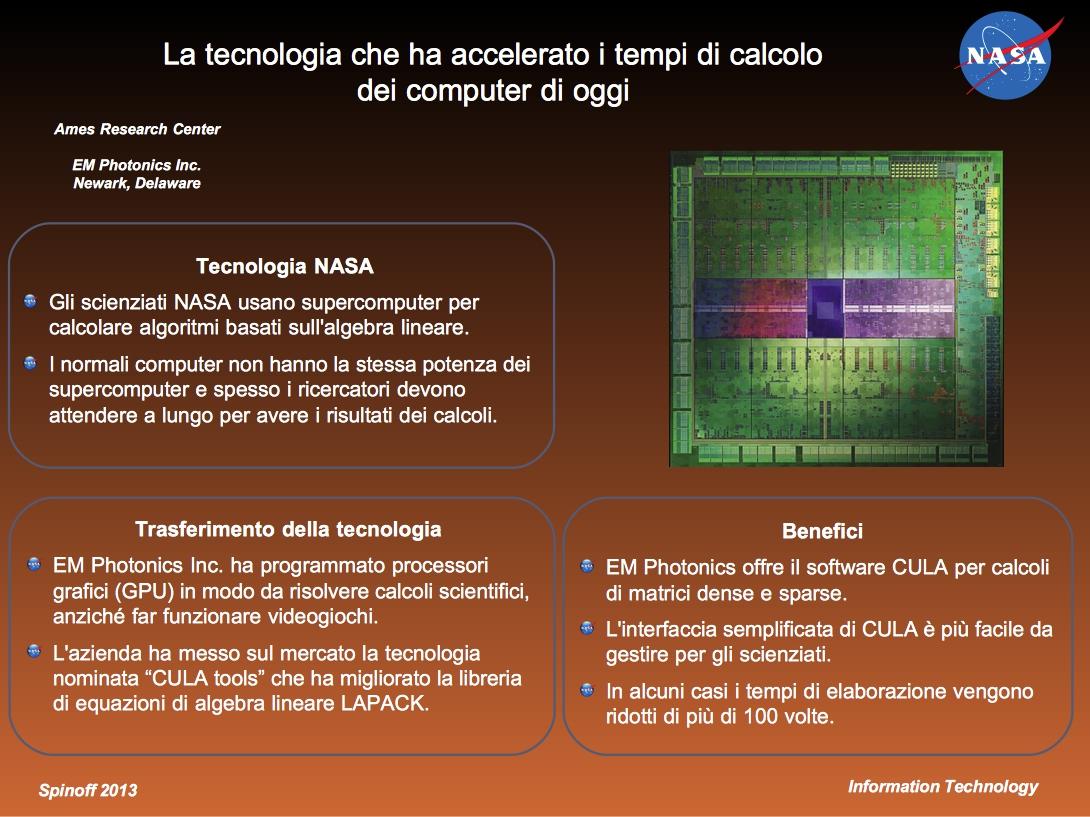 L'uso di processori grafici ha velocizzato la potenza di calcolo dei moderni computer © NASA / Veronica Remondini