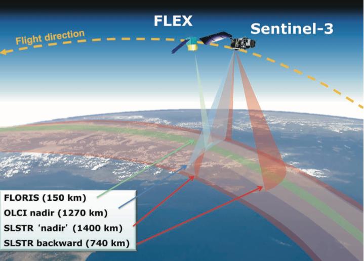 Cooperazione tra FLEX e Sentinel-3 © ESA