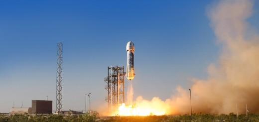 Il decollo della capsula New Shepard dello scorso 29 Aprile, avvenuta dal West Texas Launch site della compagnia. (C) Blue Origin