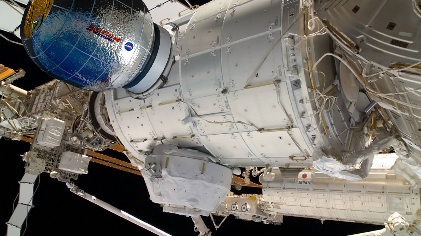 Bigelow Expandable Activity Module (BEAM) installato sulla ISS - rappresentazione artistica © NASA / Bigelow Aerospace