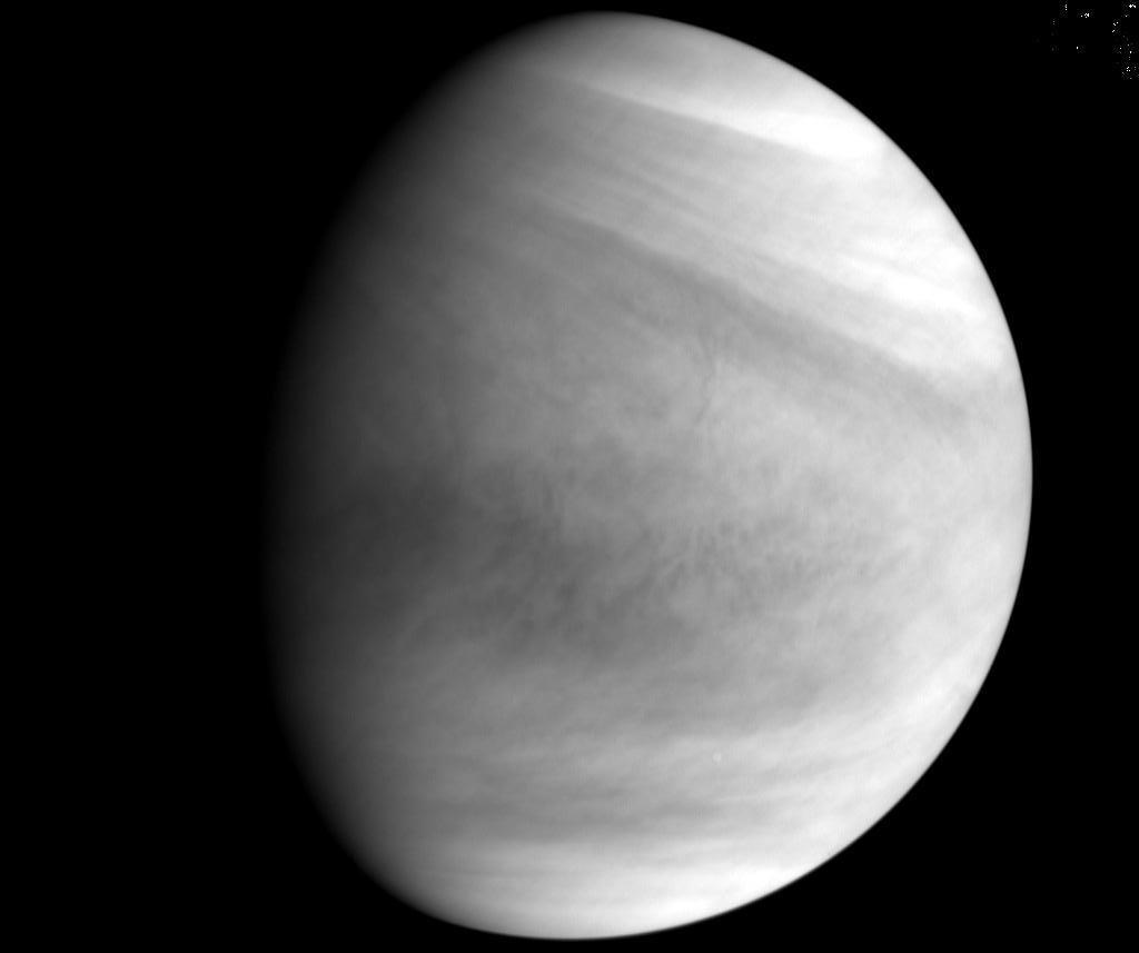 Immagine del 7 dicembre di Venere ripresa da 73.000 km di distanza. Credit JAXA
