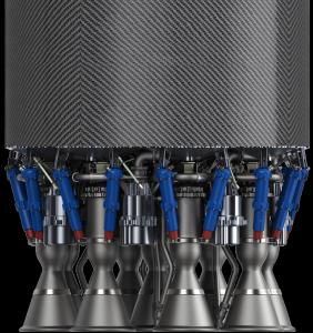 Il cluster di 9 motori Rutherford che equipaggeranno il primo stadio del vettore Electron della Rocket Lab (RL).