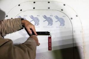 Le quattro tartarughe rappresentano i voli effettuati dalla crew capsule. Credit: Jeff Bezos