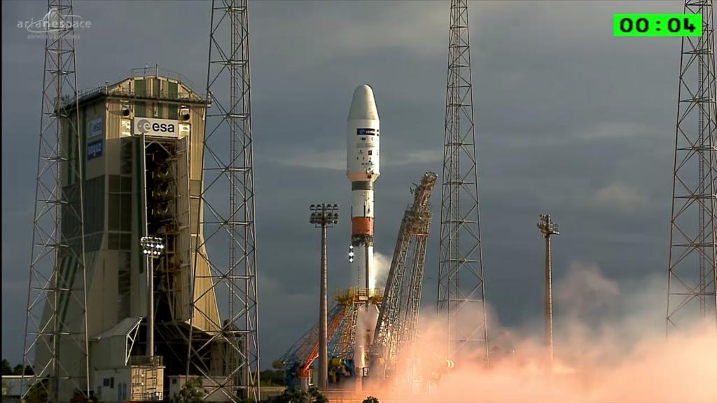 Il Soyuz Fregat al momento del decollo. Credit: Arianespace
