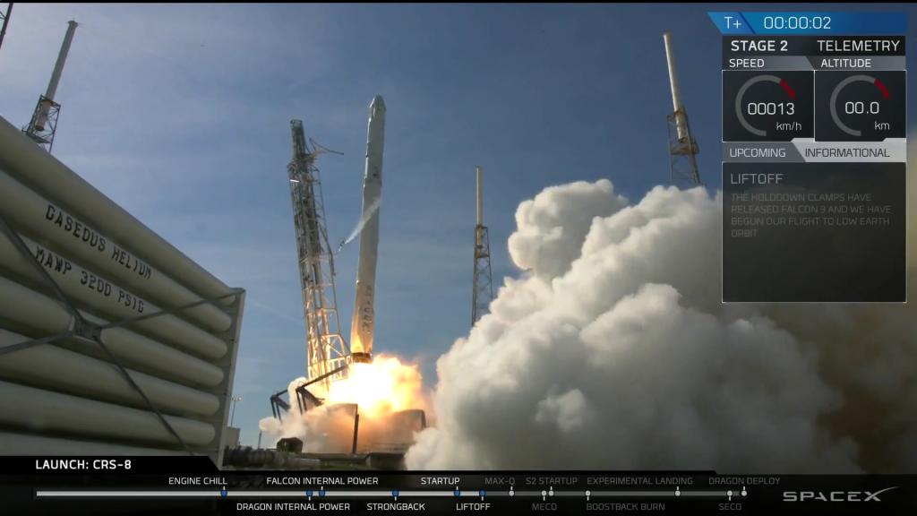 Il decollo del Falcon 9.
