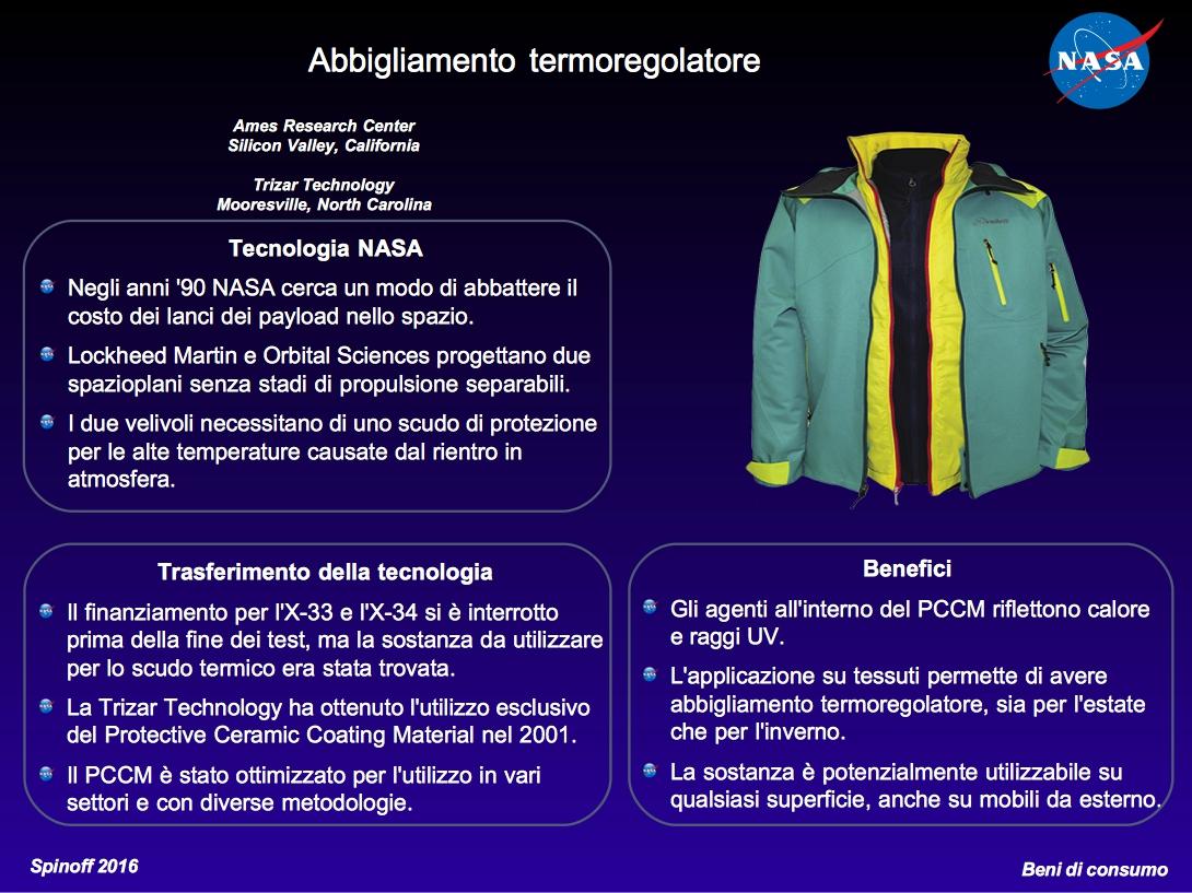 Abbigliamento termoregolatore © NASA / Veronica Remondini