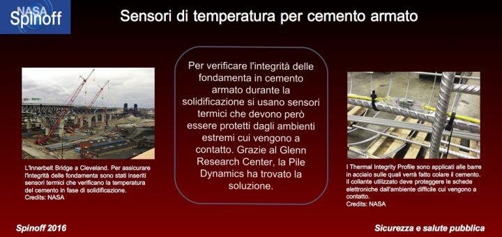 Sensori termici per cemento armato © NASA / Veronica Remondini