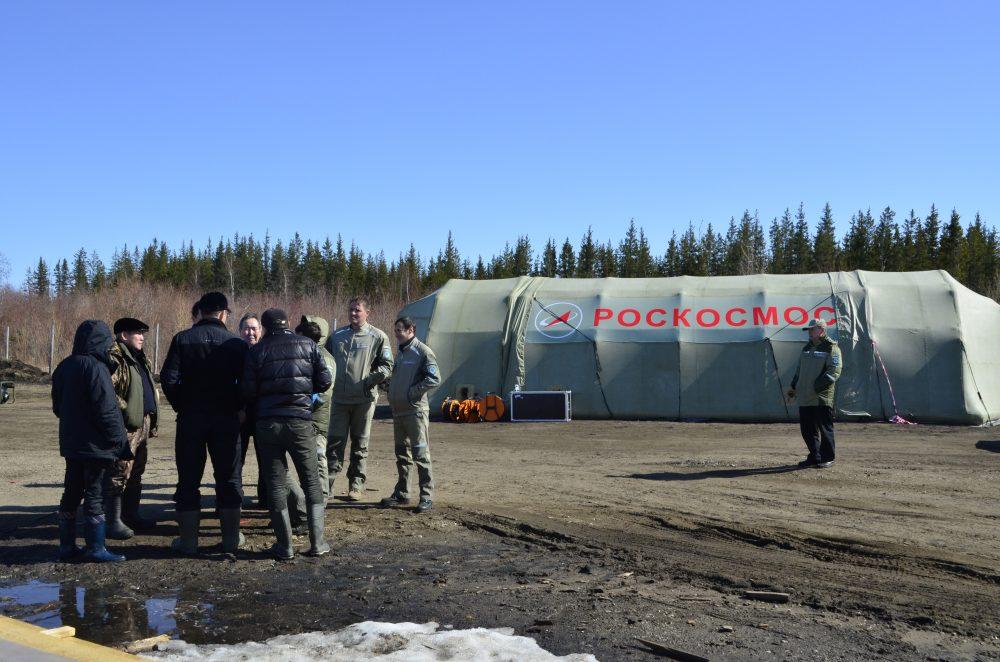 La base di partenza di una squadra di ricerca. Credit: Roscosmos