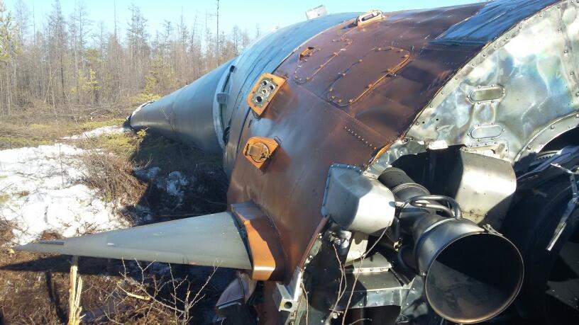 Uno dei razzi Vernier alla base del booster. Credit: Roscosmos