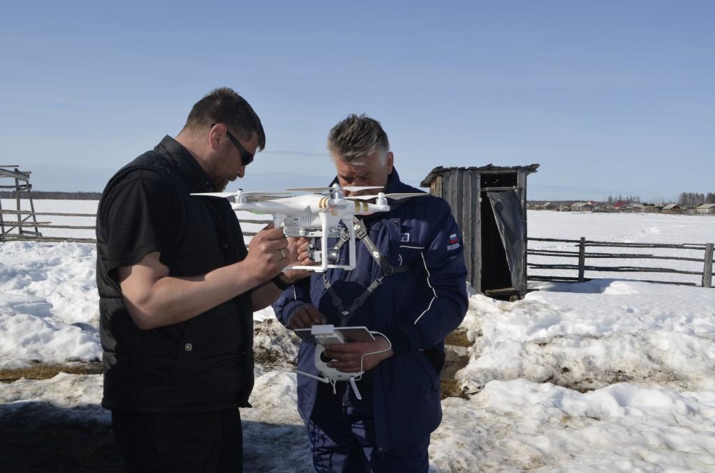 Il piccolo drone utilizzato per le ricerche. Credit: Roscosmos