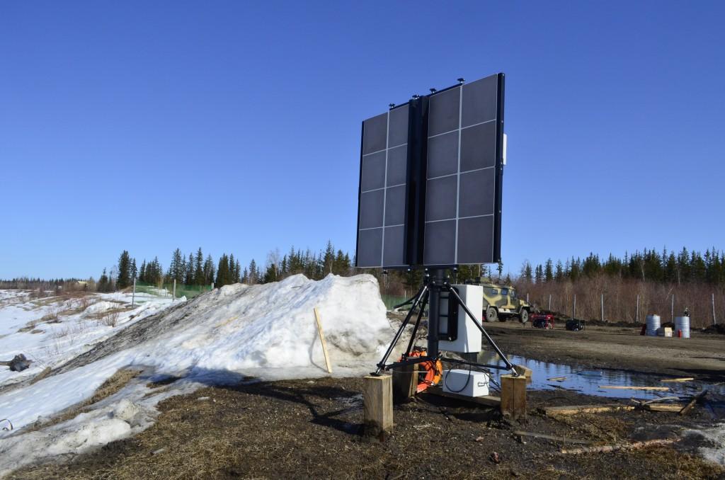 Il radar che ha tracciato la caduta del secondo stadio. Credit: Roscosmos