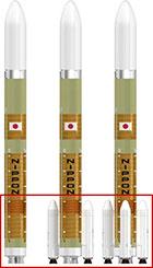 Le configurazioni a zero, due e quattro boosters. (C) JAXA.