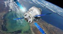 Un'mmagine artistica della capsula Orion con l'European Service Module (C) ESA/NASA.