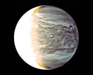 Immagine del lato notturno di Venere ripresa dalla camera IR2 di Akatsuki. Credit: JAXA
