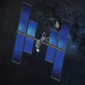 Un satellite commerciale di SSL equipaggiato con i pannelli ROSA