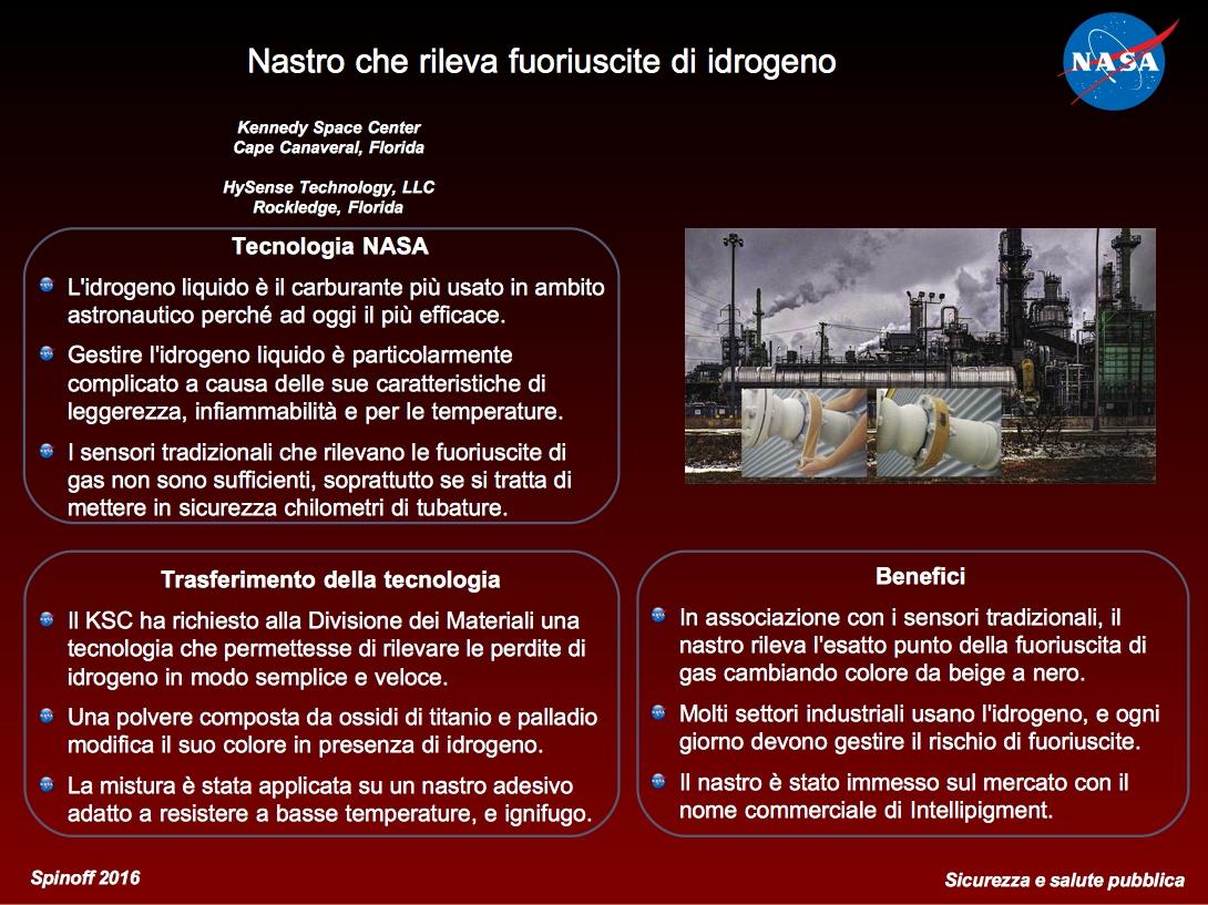 Sfondo rosso con i punti chiave dell'articolo. A destra l'immagine del nastro con industrie sullo sfondo.