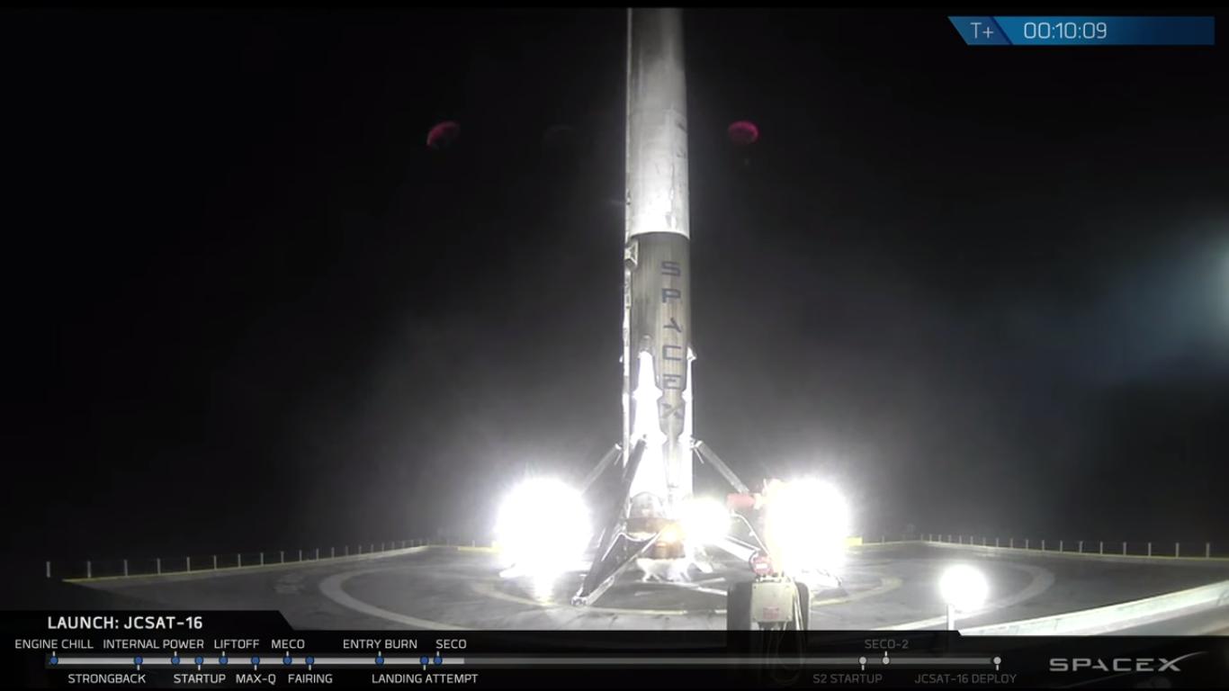 Falcon 9 028 su OCISLY - (C) SpaceX