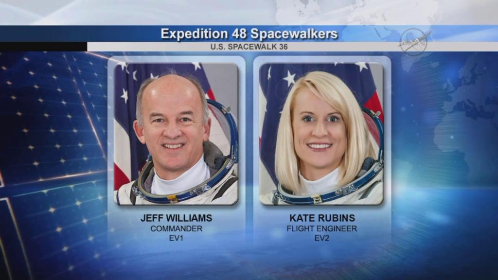 La crew di EVA-36 (Credit: NASA TV)