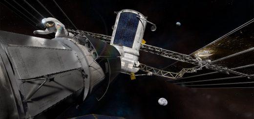 Ricostruzione artistica della stazione cislunare. Credits: NASA