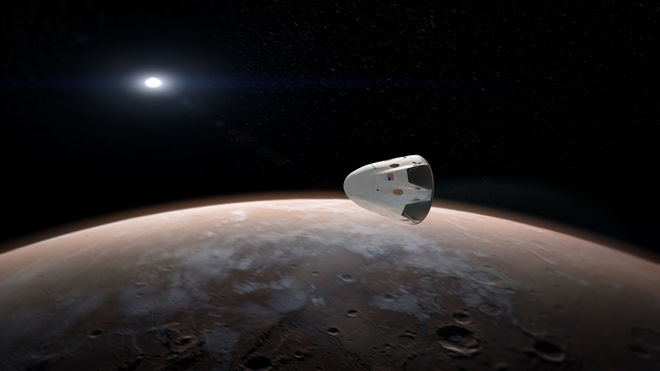 spacex-red-dragon-around-mars