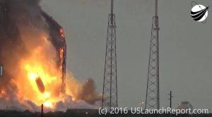 L'esplosione del Falcon 9. (C) USLaunchReport.com