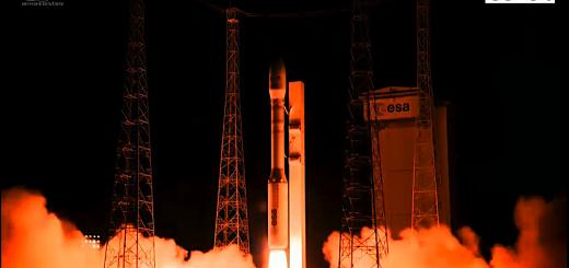 Il decollo del razzo Vega nella missione VV07. Credits: ESA