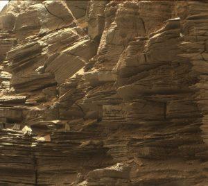 Ripresa ravvicinata delle Murray Buttes riprese da Curiosity durante il sol 1454. Credit: NASA/JPL-Caltech/MSSS