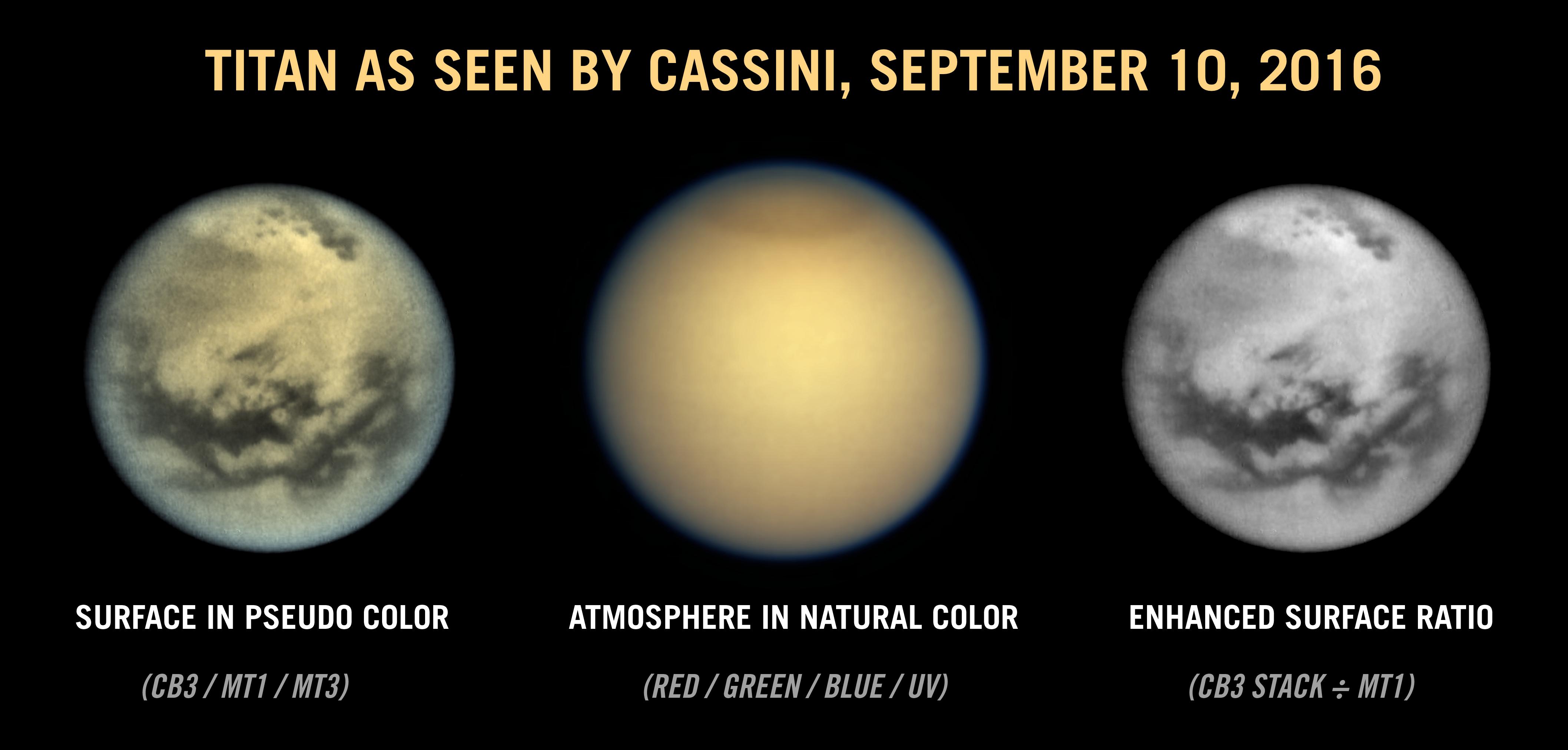 Una vista quasi globale di Titano. Credit: NASA/JPL/SSI/Ian Regan