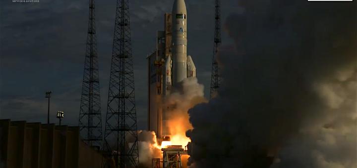 Il decollo della missione VA231. Credits: ESA