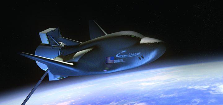 Elaborazione artistica del Dream Chaser in orbita Fonte: SNC