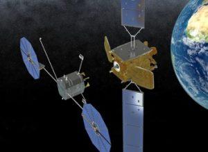 Una rappresentazione di MEV in avvicinamento a un satellite Credits: Orbital ATK