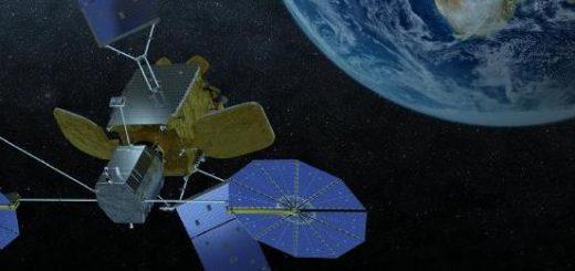 Una rappresentazione artistica del MEV agganciato a un satellite Credits: Orbital ATK