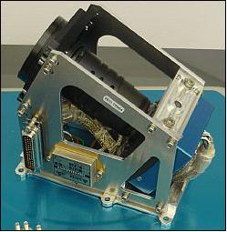 Il dispositivo di navigazione ottica che sarà utilizzato durante la missione. Credits: RemoveDebris Consortium