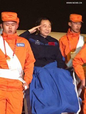 Con 47 giorni in 3 missioni Jing Haipeng è il cinese che ha trascorso più tempo nello spazio. Credit: Xinhua