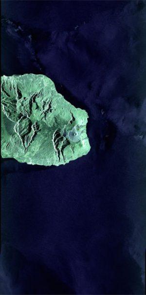 Immagine dell'isola di Reunion via laser (C) ESA