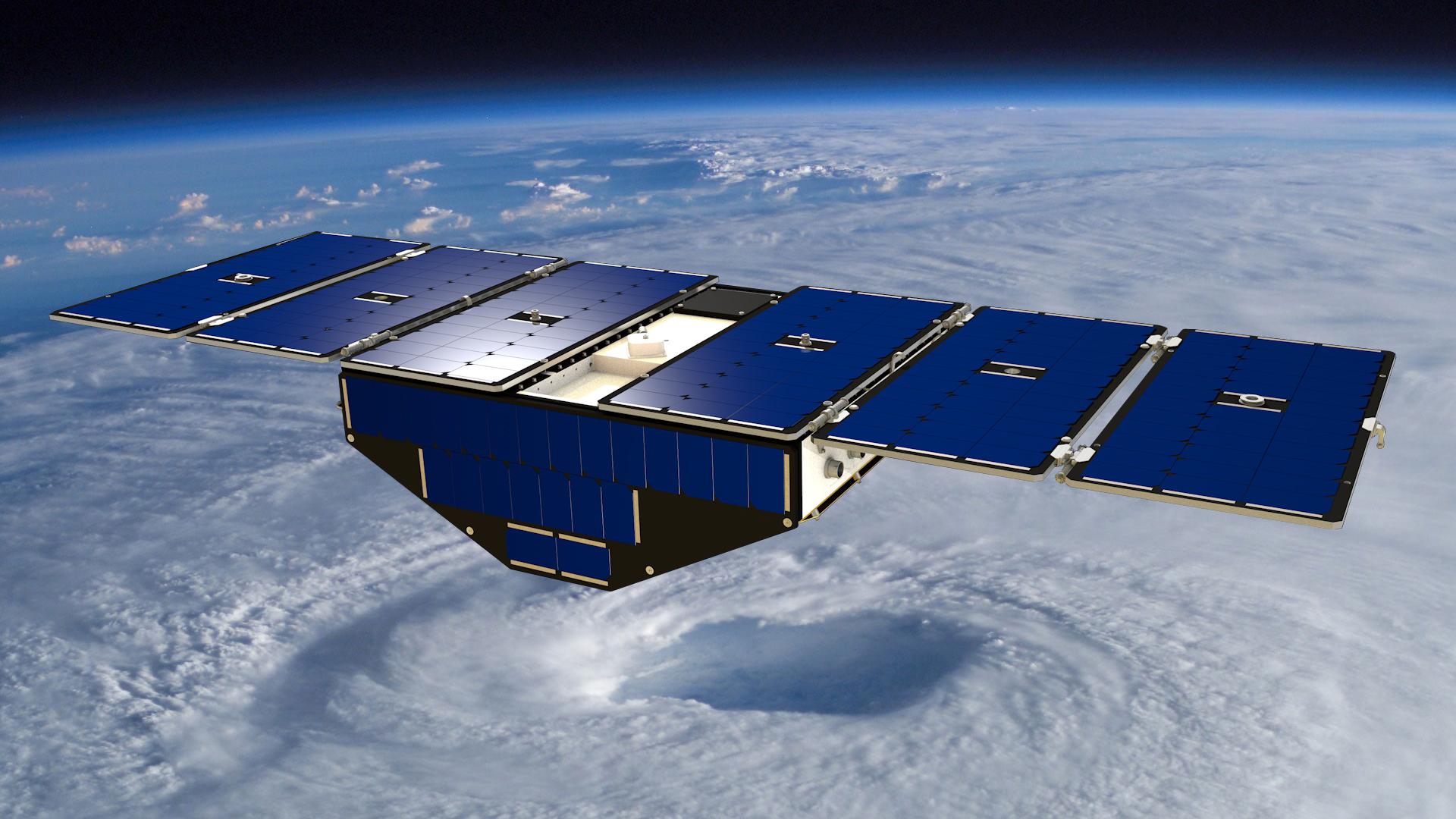 Concept di uno degli otto satelliti della costellazione CYGNSS. Credit: NASA