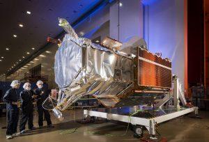 WorldView-4 pre lancio. Credits: Lockheed Martin.