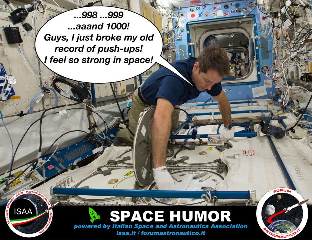 Palestrato nello spazio. Credit: NASA/ESA/Riccardo Rossi