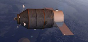 Rendering grafico della TGK PG in orbita. Credit Anatoly Zak.